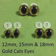 1-Stck-Gold-Cat-Eyes-mit-Kunststoff-Verschlssen-15-mm-Sicherheits-Augen-fr-weiche-Teddybr-ist-oder-0-0