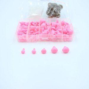 100-Stk-Rosa-Sicherheits-Nasen-5-Sizes-in-Box-AMIGURUMI-Teddy-Puppe-Tier-0