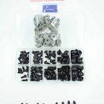 100-tlg Schwarze 6-12mm Teddyaugen Sicherheitsaugen Kunststoffaugen Puppe Augen
