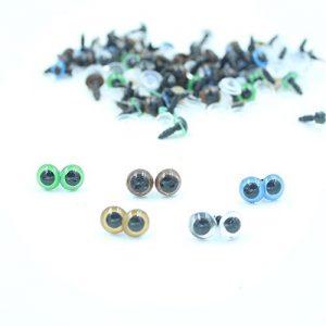 100Stk-1018mm-Bunt-Teddyaugen-Sicherheitsaugen-Kunststoffaugen-Puppe-Augen-Neu-10Mm-0