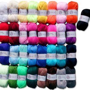 10x50-Gr-Lisa-Strickgarn-Strick-Wolle-Set-1-keine-Farbauswahl-mglich-1-Gratis-Schmetterling-0
