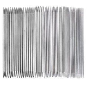 11-Sets-Edelstahl-doppelt-Stricknadeln-Handschuhe-Nadel-0