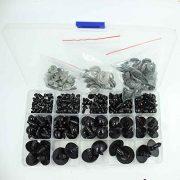 154-tlg-Schwarze-6-24mm-Teddyaugen-Sicherheitsaugen-Kunststoffaugen-Puppe-Augen-0-0