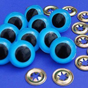 3-Paar-Blue-Eyes-mit-Metall-Verschluss-10-mm-Sicherheits-Augen-fr-weiche-Hundespielzeug-Teddybr-ist-oder-0