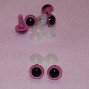 3-Paar-Pink-mit-Raffhaltern-sen-12-mm-Sicherheits-Augen-fr-weiche-Hundespielzeug-Teddybr-ist-oder-0