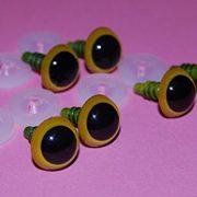 3-Paar-gelbe-Augen-mit-Kunststoff-Verschluss-21-mm-Sicherheits-Augen-fr-weiche-Hundespielzeug-Teddybr-ist-oder-0
