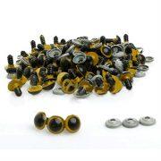 AUAUDATE-100pcs-Kunststoff-Sicherheit-Augen-fr-Teddybr-Handpuppe-DIY-Handwerk-12mm-Gelb-0