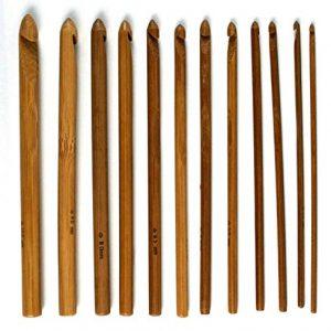 FUSION-3mm-35mm-4mm-45mm-5-55-6mm-65mm-7mm-8mm-9mm-and-10mm-12-Stck-KARBONISIERT-BAMBUS-Hkelnadeln-Nadelset-0