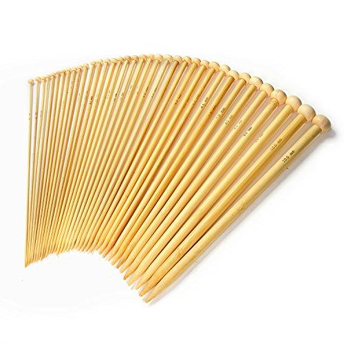 LIHAO-Stricknadeln-Bambus-Set-18-Gre-36-Stk-20-100mm-Handarbeit-Knitting-Needles-Crochet-Hooks-0