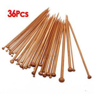 Set-36-Einzel-spitzen-Stricknadeln-aus-Bambus-von-18-verschiedenen-Groessen-karbonisiert-0