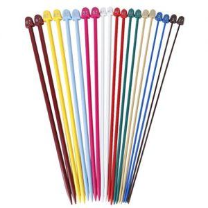 Set-von-20-Stck-10-Gren-Multicolor-Kunststoff-Stricknadeln-Einzelnadelspiel-0