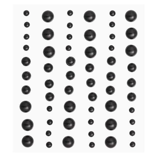 Stony-Sticker-Halbperlen-schwarz60-St3-Grssen-sort-0