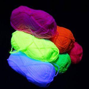 UV-Schwarzlicht-Wolle-Set-6-Farben-Neon-Schwarzlicht-Stringart-Goa-0