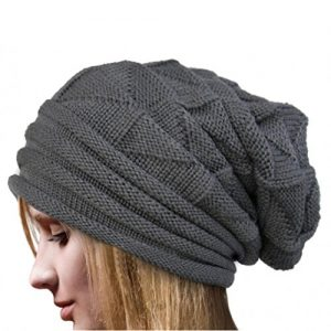 Ularmo-Frauen-Winter-Crochet-Hat-Wolle-Strickmtze-Warme-Kappen-Grau-0