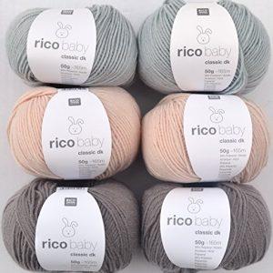 Woll-Set-Babywolle-Rico-Baby-Classic-6x50g-5-weiche-Wolle-zum-Stricken-und-Hkeln-0