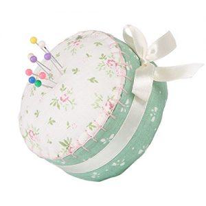 neoviva-Floral-Stoff-beschichtet-vollstndig-Gepolsterte-Nadelkissen-in-Cupcake-Form-mit-Satinband-Knoten-fr-lange-Nadel-Aufbewahrung-Textil-Floral-Stylish-Japan-85Lx85Wx5H-CM-0